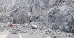 کوہستان دوگاہ کے قریب،لینڈسلائیڈنگ سے ٹینکرڈرائیورزخمی