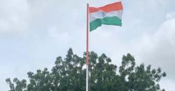 بھارتی پرچم  لہرانے کی تصویر شیئر کرنے اوربھارتی یوم آزادی کی مبارکباد پیش کرنے پر سوشل میڈیا پر تنقید کا  سامنا