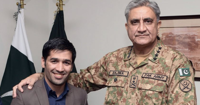 پاکستانی باکسر محمد وسیم نے اپنی فتح کس کے نام کر دی