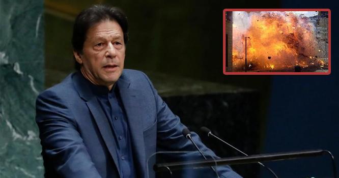 عمران خان کی تقریر ملک دشمنوں سے ہضم نہ ہوئی ، پاکستان کے بڑے شہر میں بم دھماکہ
