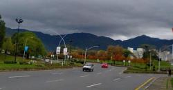 شہر کے مختلف علاقوں میں ہلکی بارش اور ٹھنڈی ہواؤں سےموسم خوشگوار ہوگیا