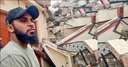 برطانوی کرکٹر عادل رشید کا میرپور میں زلزلے سے متاثرہ علاقوں کا دورہ