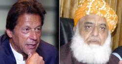عمران خان سمجھ رہے ہیں کہ جمعیت علمائے اسلام ان کے استعفے کا مطالبہ کرے گی