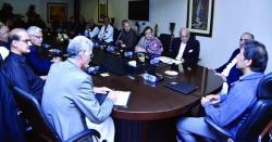 وزیراعظم عمران خان کی زیر صدارت پی ٹی آئی کی کور کمیٹی کا اجلاس آج ہو رہا ہے