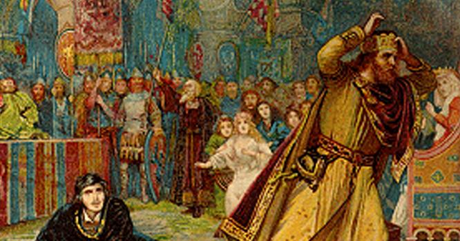 بادشاہ نے کانچ کے ہیرے اور اصلی ہیرے ایک تھیلی میں ڈال کر اعلان کیا کہ ہے کوئی جوہری جو کانچ اور اصلی ہیرےالگ کر سکے