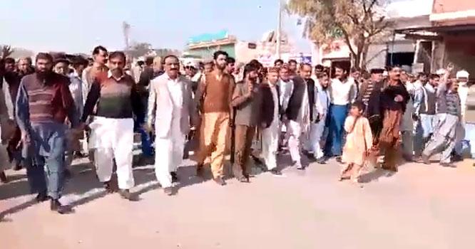 جلال پور شریف خوشاب نہر کیلئے ایشیائی ترقیاتی بینک کی طرف سے 144ارب کی منظور کے باوجود نہر کی تعمیر متعلقہ جگہ نہ کیے جانے پر احتجاج