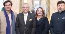 صدر عارف علوی سے بھارتی اداکار شتروگن سنہا کی ملاقات، امن کو فروغ دینے پر زور