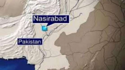 نصیر آباد میں زیر تعمیر پل کے نیجے نصب بارودی مواد سے دھماکہ