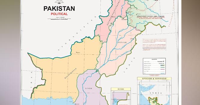 پاکستا ن نے نیا سیاسی نقشہ جاری کردیا