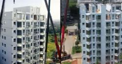 چین: ایک دن میں 10 منزلہ عمارت تیار